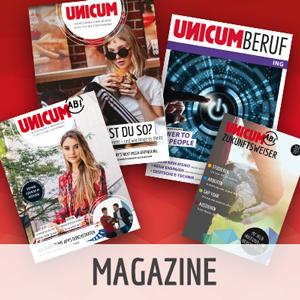UNICUM Magazine im Fächer